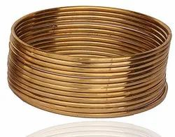 Wedding Party Wear Gold Plated Plain Bangles