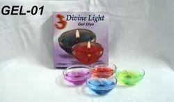 Gel-01 Gel Candle (4 Pc. Diya Gel Candle Per Pkt)