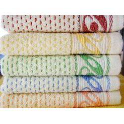 Printed Multicolor Jacquard Towels, 450-550 GSM, Size: 35*70 Cm