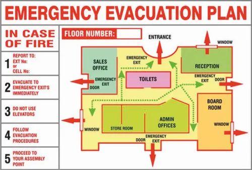 Night Glow Evacuation Plan Board Rs 350 Square Feet