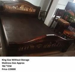 WOODEN ROSEWOOD BED COT
