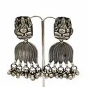 Traditional Made in India Plain Oxidised Silver Jewelry Hot Dazzling Earring