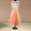 Orange Color And White Color Frock