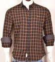 Cotton Peach Checks Shirts