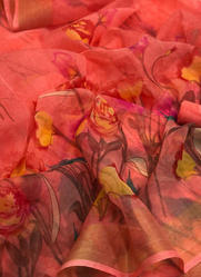 Flower Printed Daily Wear Fancy Sarees