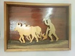 Brown Wooden Farmer Craft
