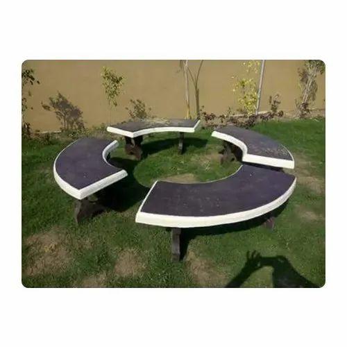 Superb Round Concrete Garden Bench Ncnpc Chair Design For Home Ncnpcorg