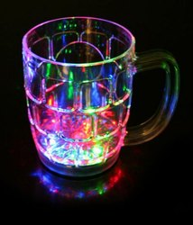 LED Flashing Inductive Rainbow Color Cup Glass Best for Gift - Colour Changing Mug