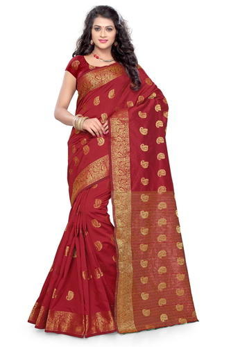 8ad20bec9a Wedding Wear Indian Silk Cotton Saree, With Blouse Piece, Rs 350 ...