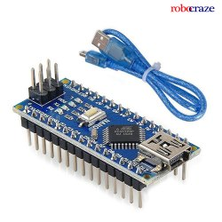 Arduino Nano V3 for USB Cable Soldered Pins (Improved Version)  - Robocraze