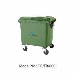 Orchids Plastic Wheel Dustbin (600 Liters)