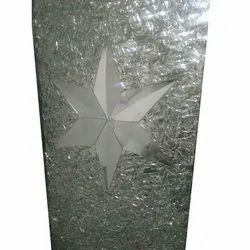 Glossy Floral Interior Glass, Packaging Type: Polywood Coated, Size: 1220x1830mm