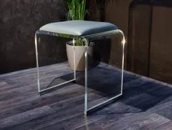 Square Standerd Transparent Stool, For Home