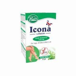 Icona London Green HAIR REMOVAL CREAM ALOE VERA, 40 gm, Packaging Size: 7 Cm