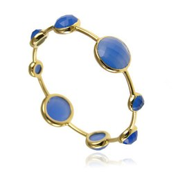 Blue Chalcedony Gemstone Bangle