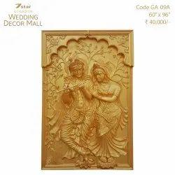 GA09A Fiberglass Radha Krishna Sculpture