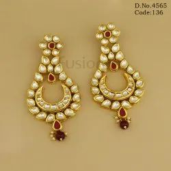 Designer Kundan Chandbali Earrings