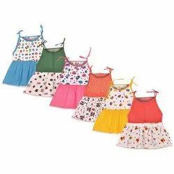 Girls Midi / Knee Length Casual Dress with Sleeveless