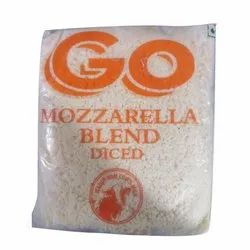 Go Mozzarella Blend Diced Cheese, Packaging Type: Packet, Cow Milk