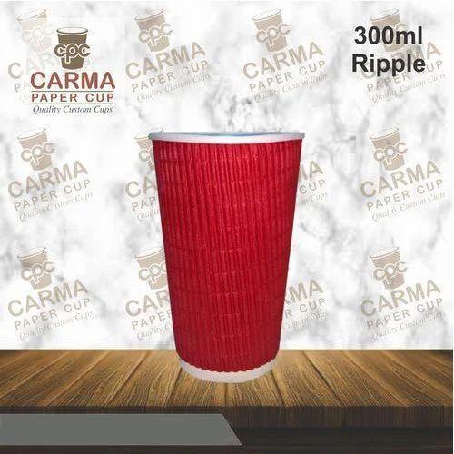 300 ML Ripple Paper Glass