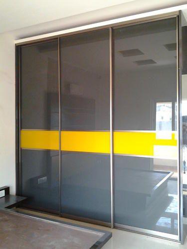Modern Bedroom Wardrobe Loft Glass Sliding Door Service Provider