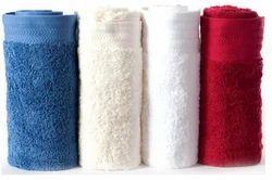 White And Yellow Plain, Printed Hand Towel