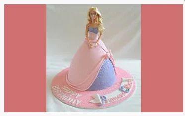 Super Princess Doll Cake Birthday Cake Poojas Designer Cakes Personalised Birthday Cards Veneteletsinfo