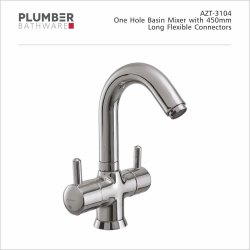Plumber Deck Mounted AZT-3104 One Hole Basin Mixer, For Kitchen