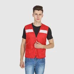 UB-VEST-RED-HV-0005 Vest Jackets