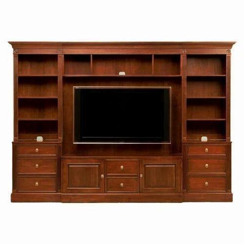 Teak Wood Tv Unit Max Screen Size 60 69 Inch