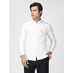 Green Hill Men's Solid Casual White Oxford Shirt