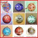 Hand Painted Handmade Indian Christmas Ornament Hanging Ball
