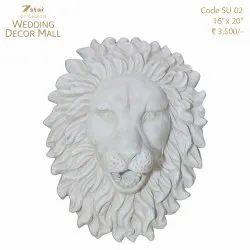 SU02 Fiberglass Lion Face Sculptures