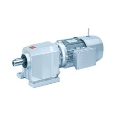 Single Phase Helical Gearbox Motor, 220 V