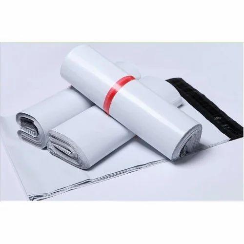 White & Black 10 X 14 Pod Printed Courier Bags, Size: Min 4x6, Max 20x23