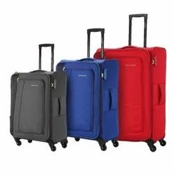 Available In Red, Blue and Grey Polyester Plain Fancy Luggage Bag, For Travelling