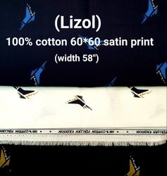 Lizol Cotton Satin Printed Shirting Fabrics