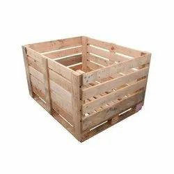 Rectangular Brown Wooden Pallet Box, For Shipping, Capacity: 1mt