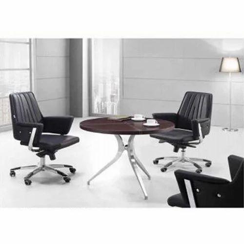 Round Office Table Rs Number Kalaniyojan Associates ID - Black round office table