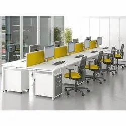 Modern Brown Office Wooden Computer Table