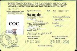 COC Honduras, मर्चेंट नेवी ट्रेनिंग