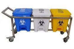 Bio Medical Waste Bin Trolley