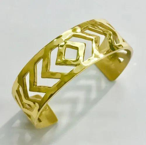 Brass cutout Cuff Bracelet