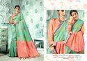 Zardozi Work Kanjivaram Silk Saree With Blouse