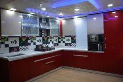 Stainless Steel L Shape Godrej Kitchen, Warranty: 1-5 Years