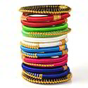 Indian Handcraft Colourful Trendy Girls Silk Thread Bangles