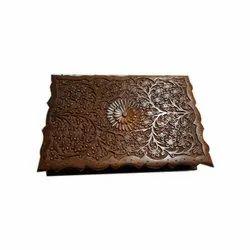 Square Wooden Designer Decorative Jewelry Box