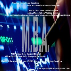 MBA Dissertation Writing