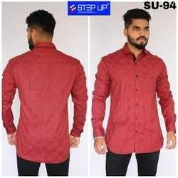 Step Up Red Mens Formal Shirt