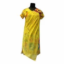Ladies Casual Wear Yellow Kurti